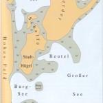 Karte von Schwerin vor der Gründung