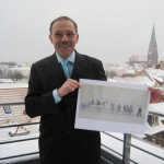 """Jörg Reinholz unterstützt das Stadtjubiläum mit einer Patenschaft für das Bild """"Die goldenen Zwanziger Jahre"""""""