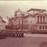 Militärparade auf dem Alten Garten um 1910
